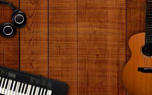 guitarra y teclado
